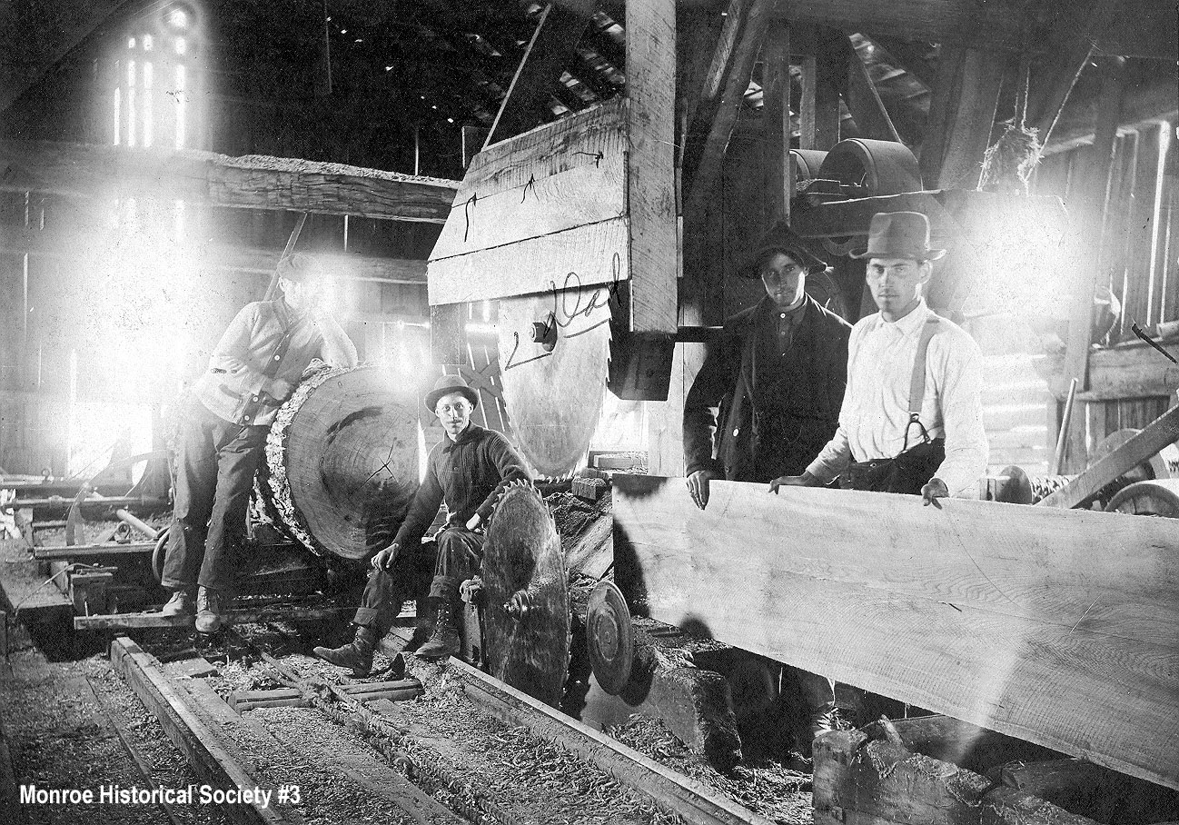 0003 – Interior of the Three Lakes Sawmill with William Mitchell