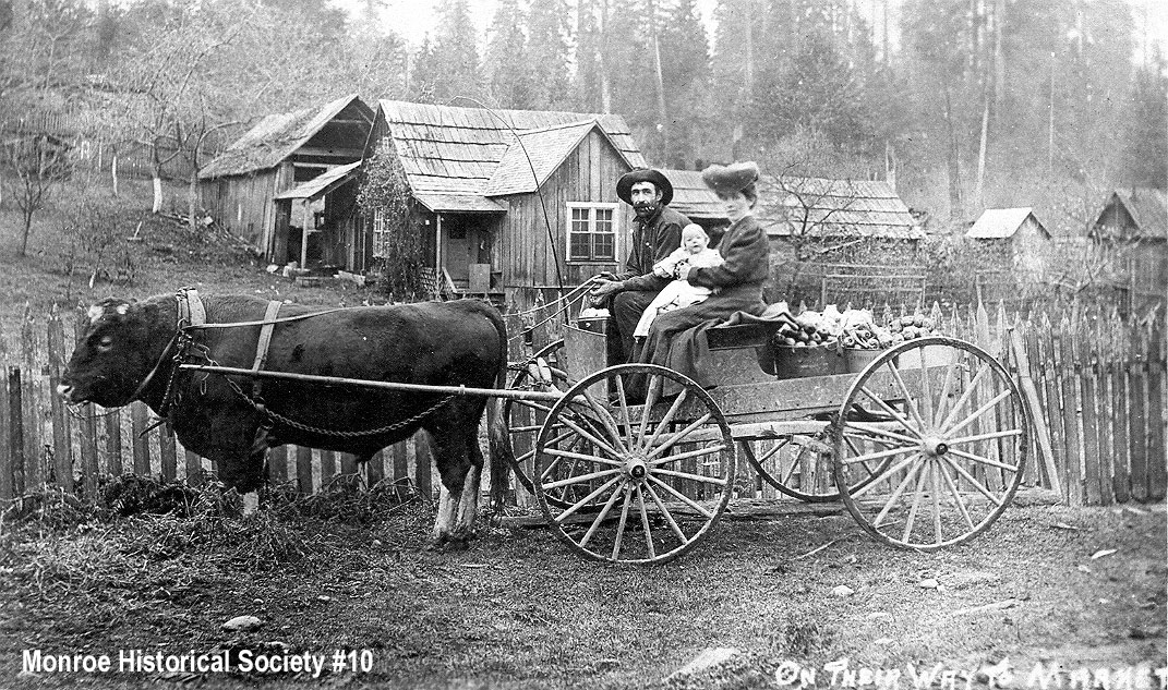 "0010 – Pioneer farmers ""On Their Way to Market"" c1900"