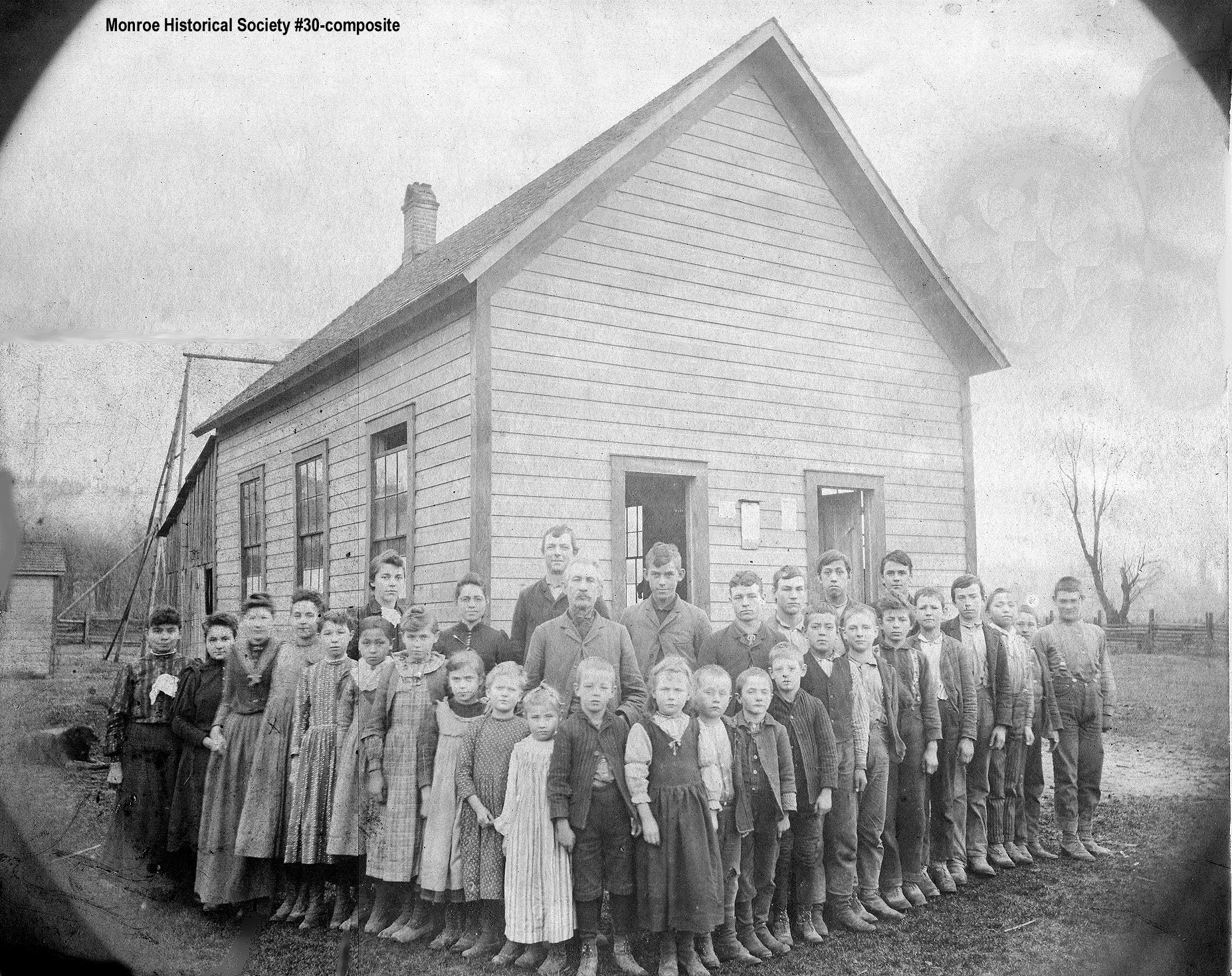 0030 – Known as the Harriman School this was the first Tualco School, with students
