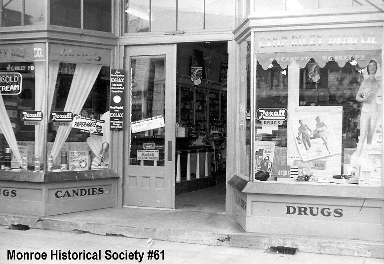 0061 – Storefront of Camp Riley Drug prior to 1948