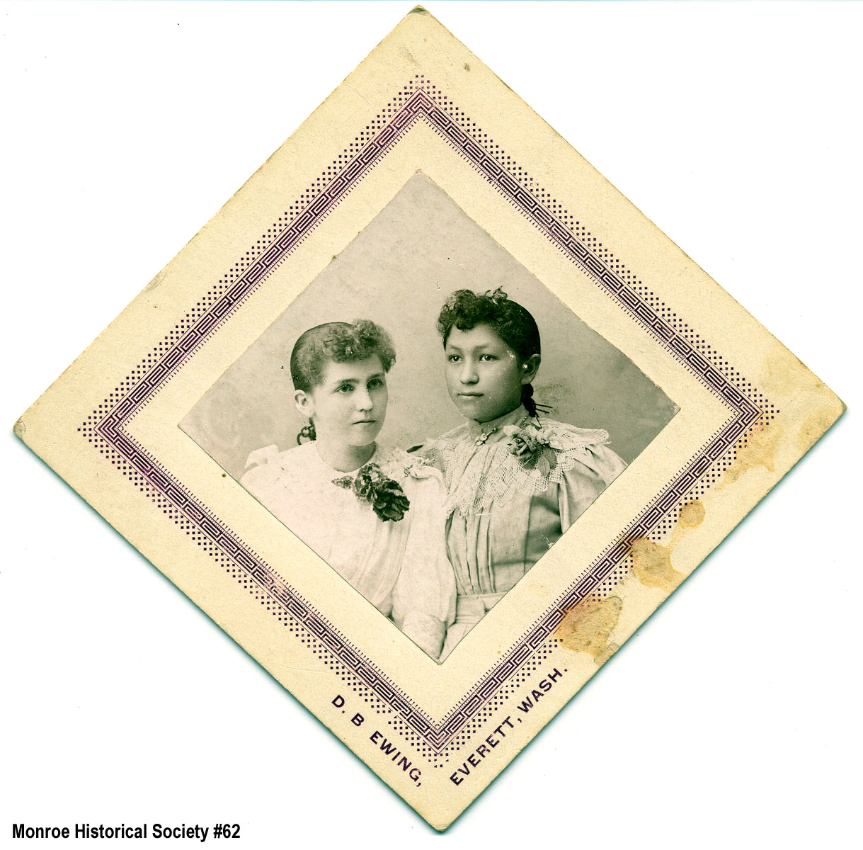 0062 – Hattie Hovey (Dennis) and Nellie Johnson (Blakeslee)