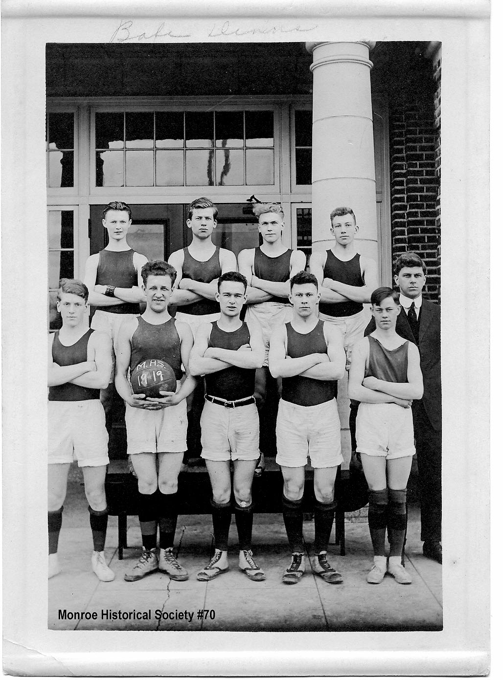 0070 – Monroe High School 1919 Basketball Team
