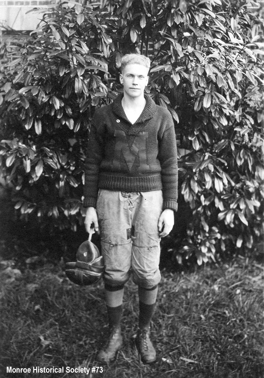 0073 – Henry A. (Babe) Dennis in football uniform c1920