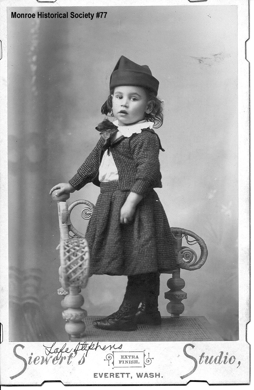 0077 – Lafe Stephens as a young child in a studio portrait