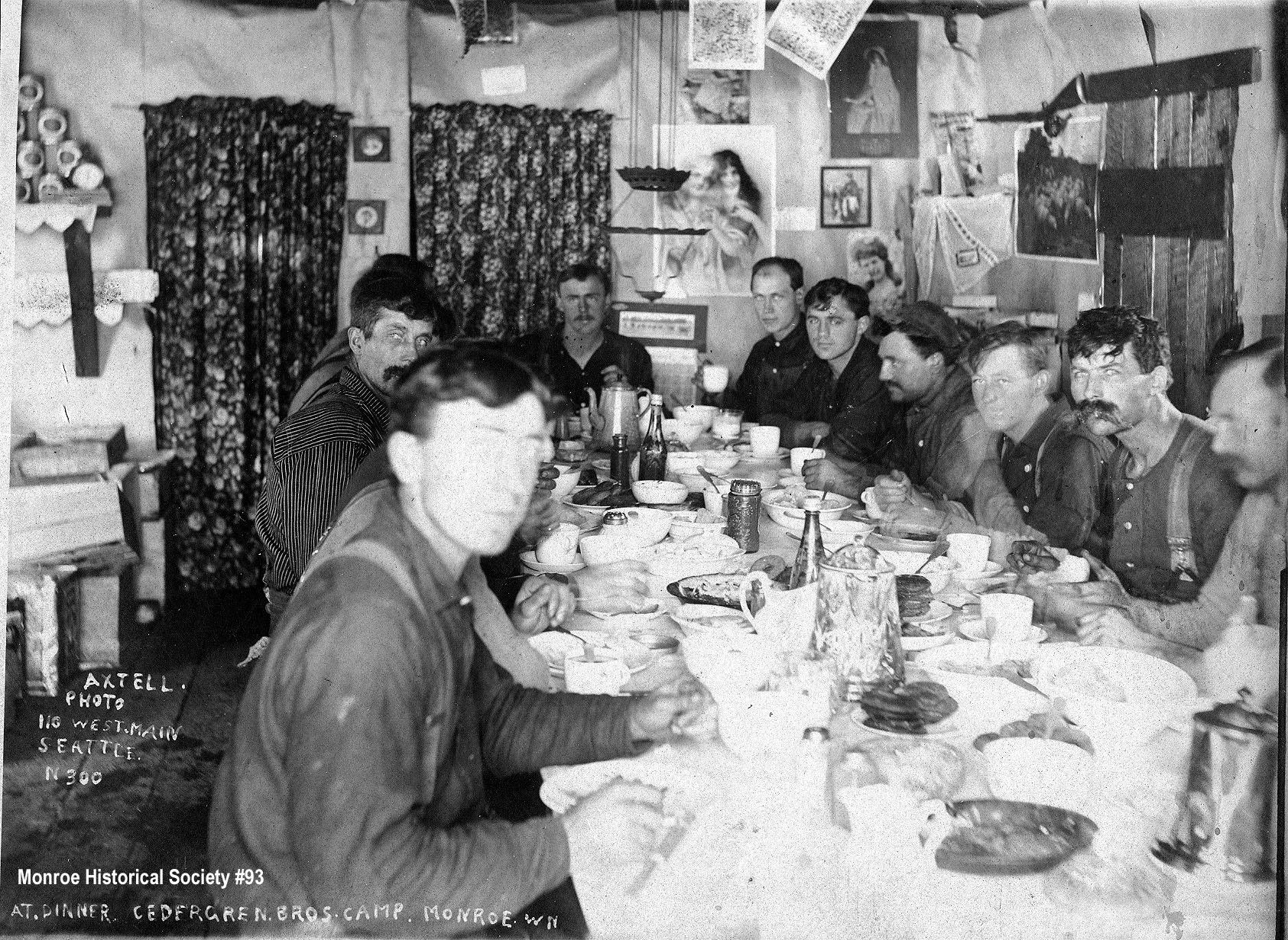 0093 – At dinner, Cedergreen Bros. Camp, Monroe