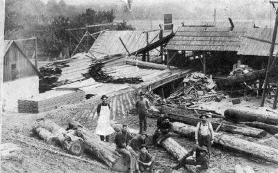 0099 – New Kurchen Mill and crew at Larimer's Corner 1908-09