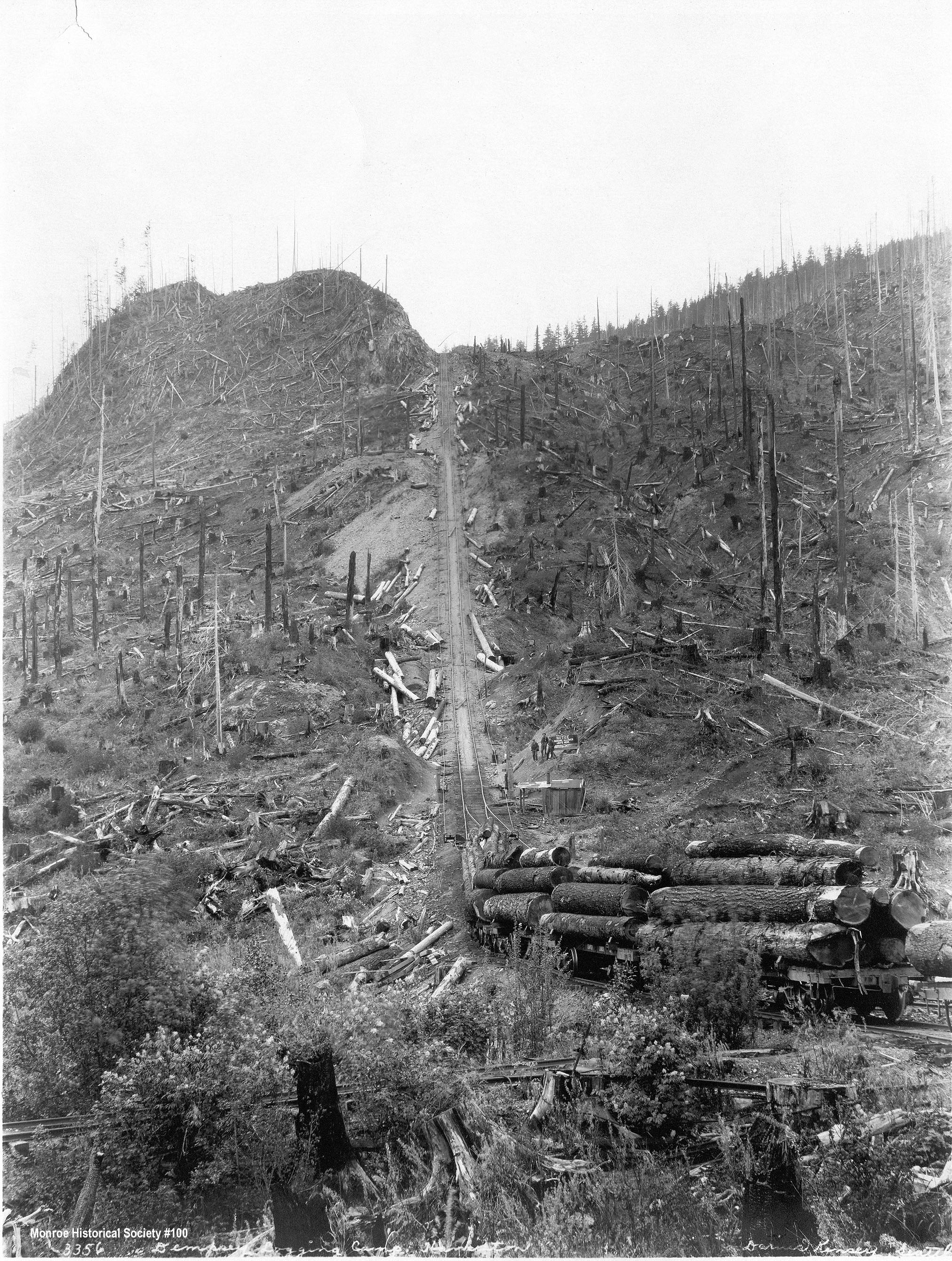 0100 – Dempsey Logging Camp, Hamilton, (Washington) 1924